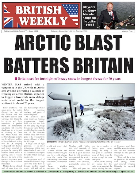 Sat  Dec  1, 2018 e-dition – The British Weekly